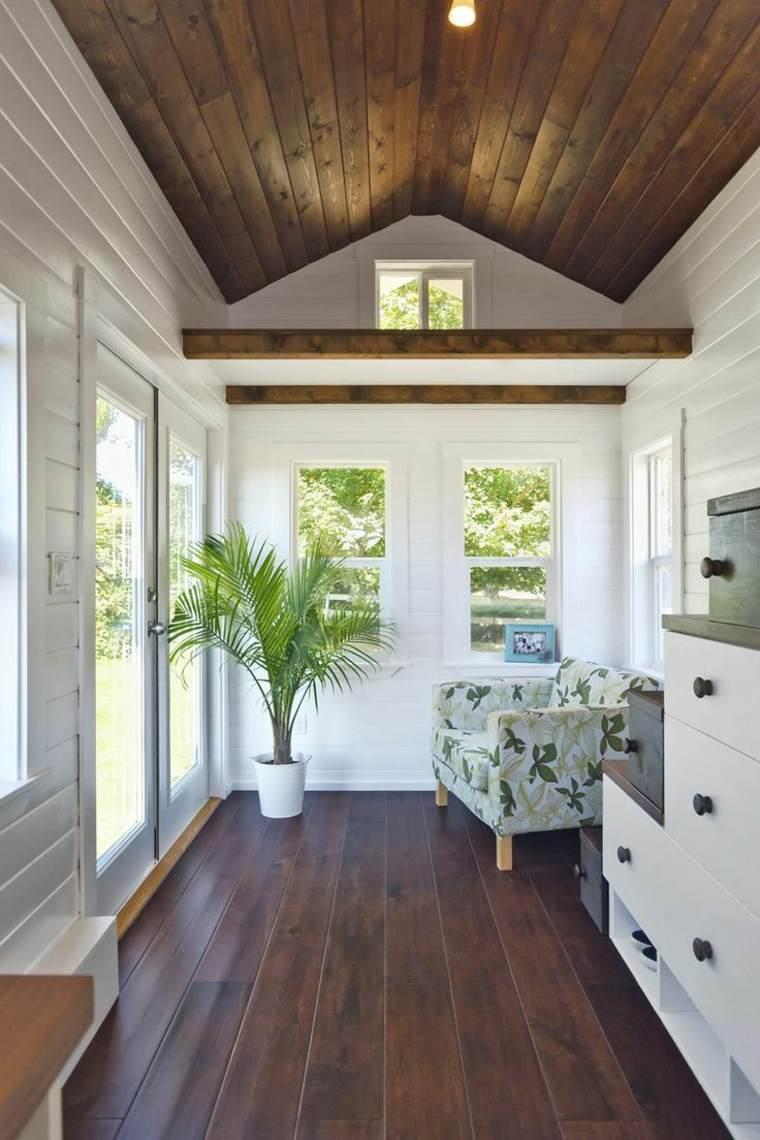 entrada casa suelo techo misma madera ideas