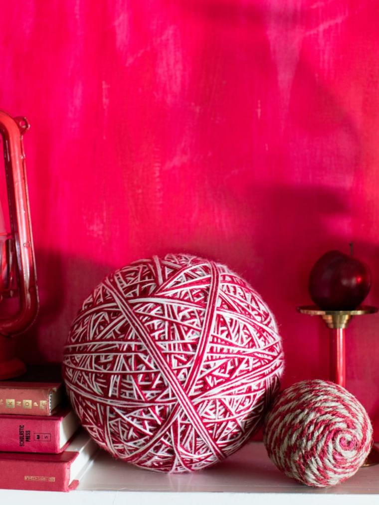 esferas hilo decoraciones especiales efectos