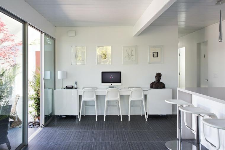 espacio abierto sillas estilos muebles madera