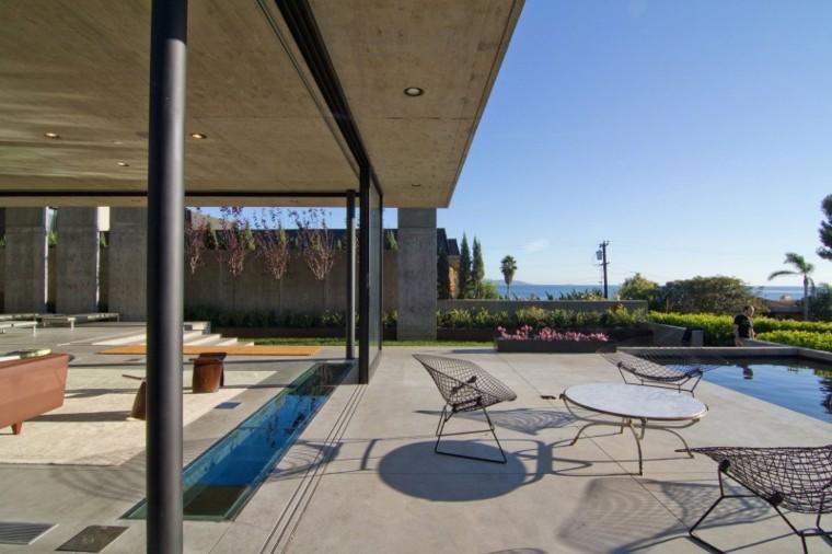 estanque dividir espacios jardin contemporaneo ideas