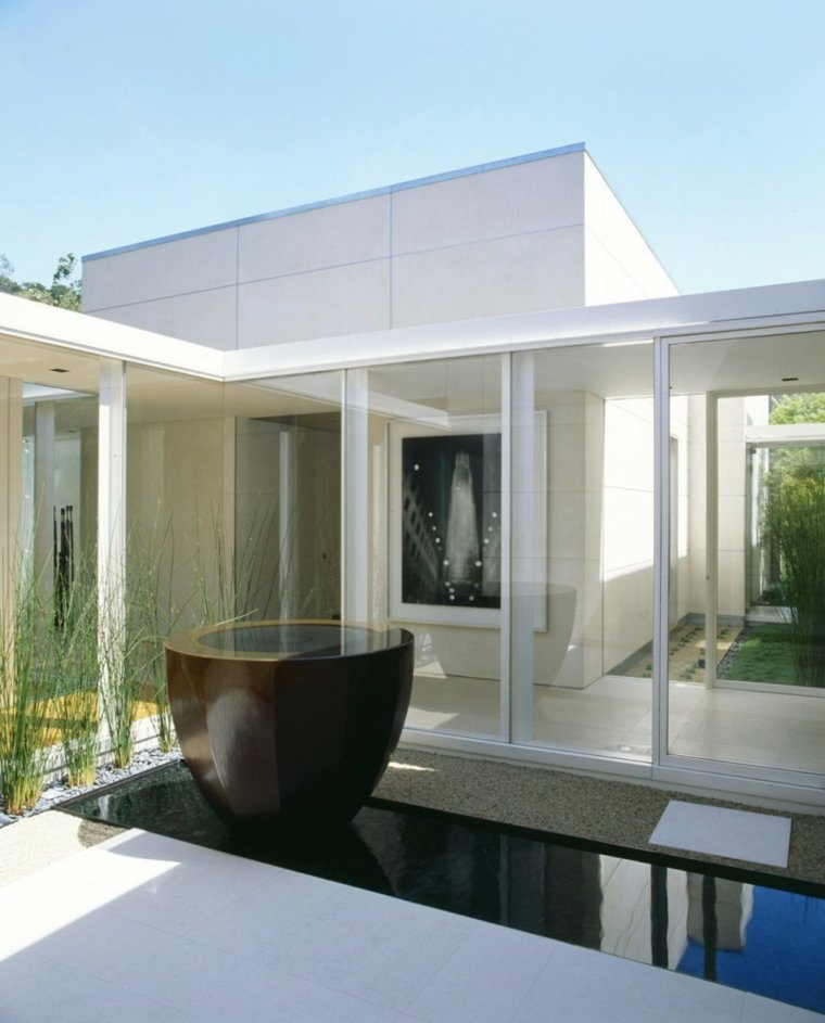 estanques de jardin casa disenada Dirk Denison Architects ideas