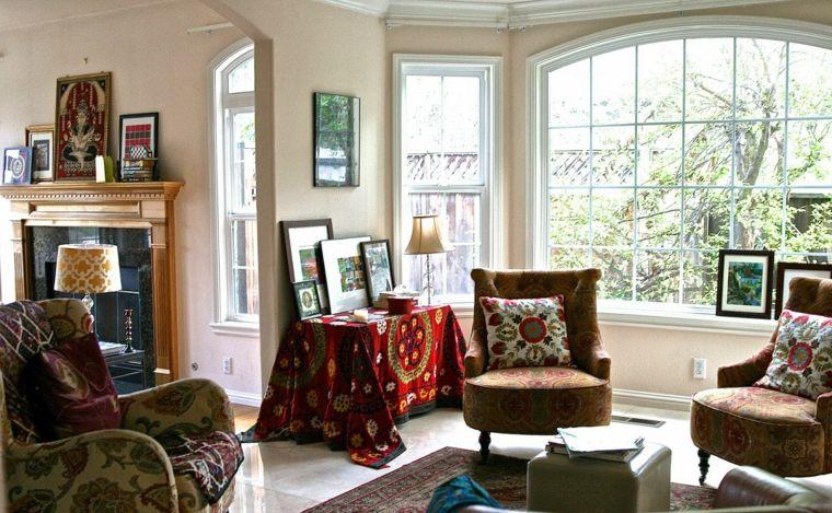 estilo bohemio interior salón