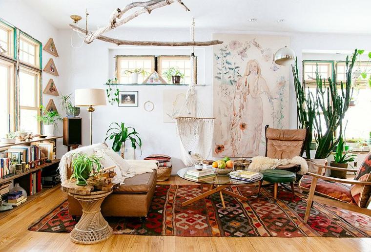estilo bohemio salón casa