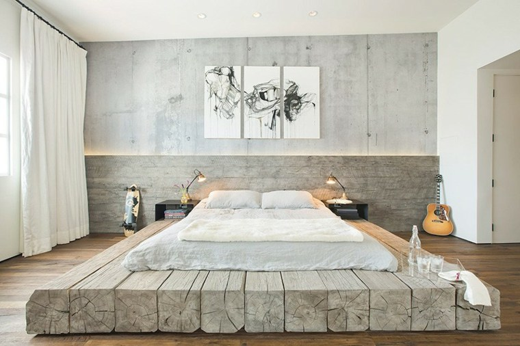estupenda cama base madera natural