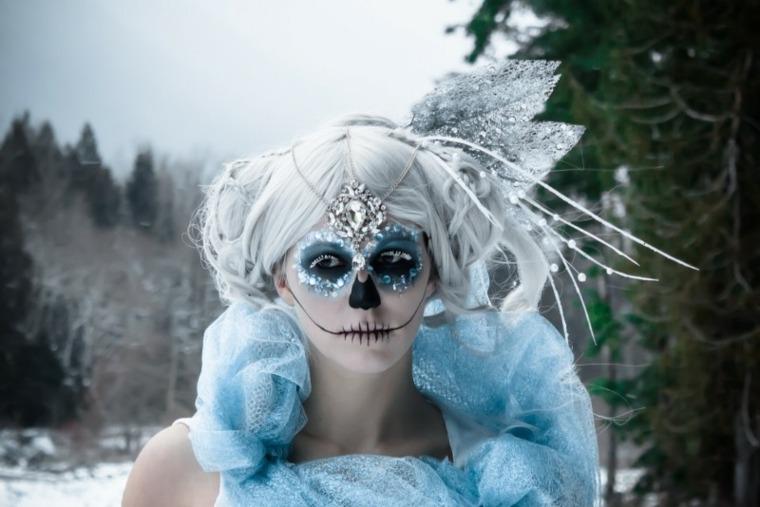 estupenda cara maquillaje halloween