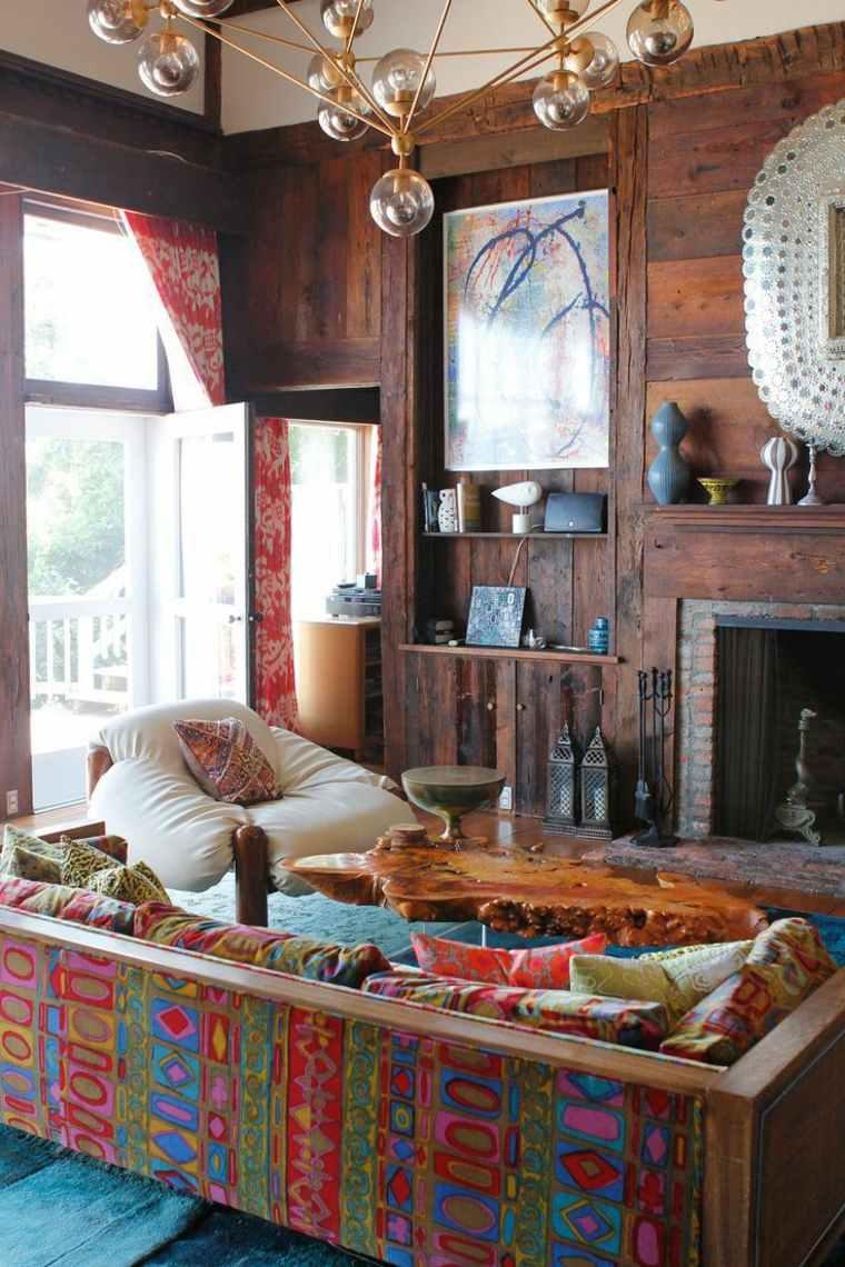 estupendo diseño sofa boho colores