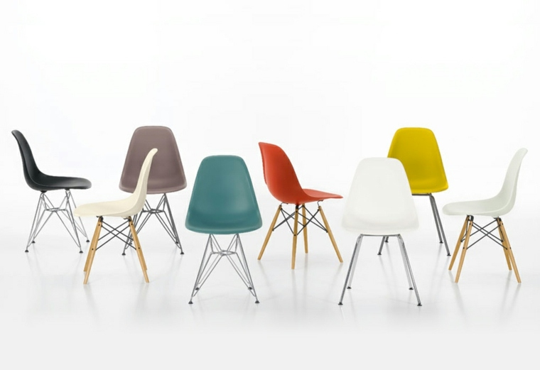 estupendo conjunto sillas Eames colores
