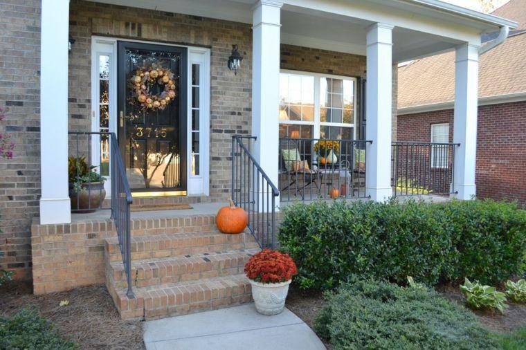 exterior decorado entrada decoracion sencilla