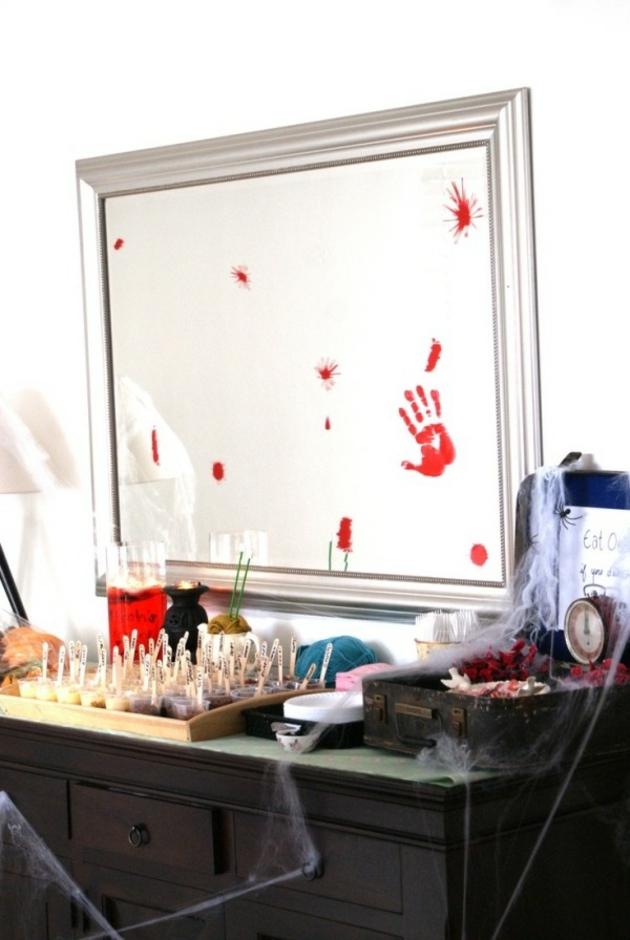fiesta de halloween color estilos manos