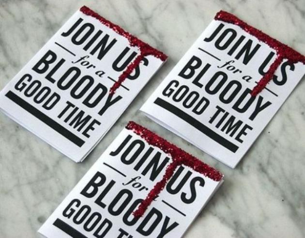fiesta de halloween invitaciones sangre entradas