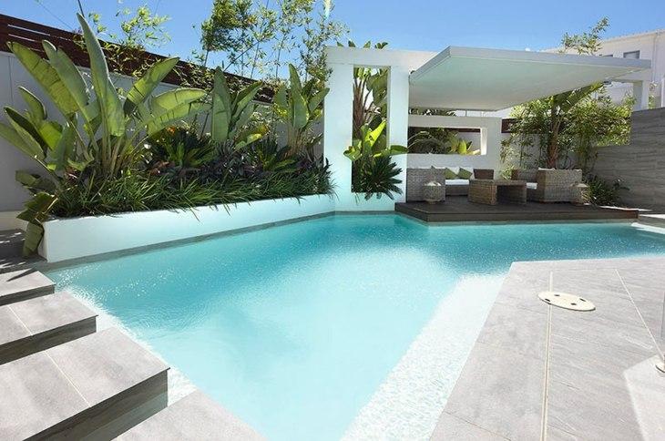 fotos de piscinas abstracto bordes asientos
