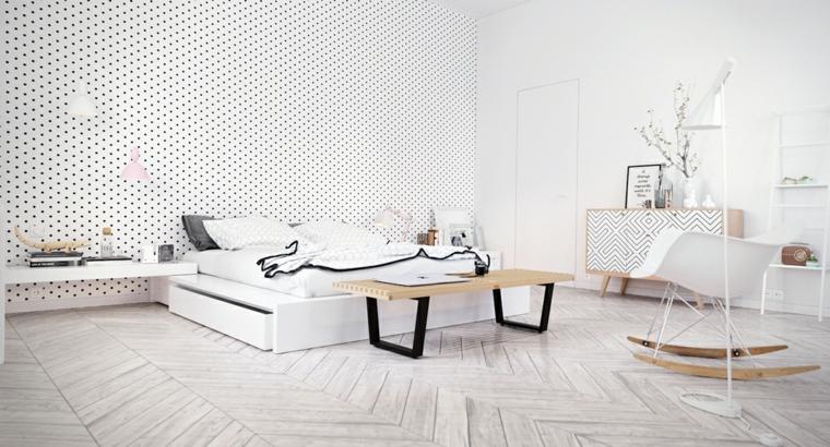habitacion escandinava estilo moderno deco