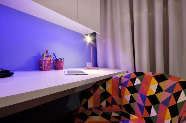 habitacion juvenil escritorio sillón moderno