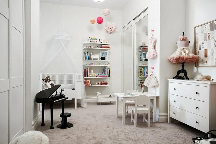 habitación niña artista boho