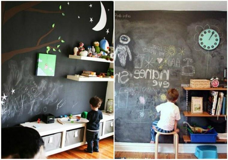 Dormitorios para ni os de estilo boho chic 24 ideas nicos - Paredes pintadas para ninos ...