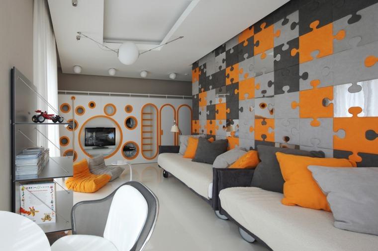 habitación pared piezas puzle