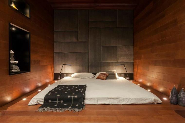 habitacion sencilla paredes madera