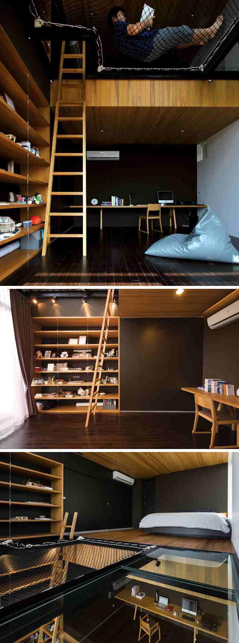 habitaciones calidas estantes muebles diferentes