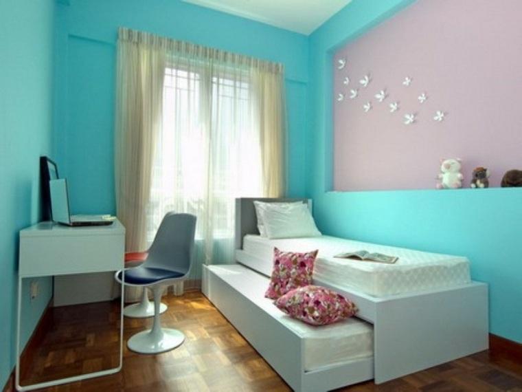 habitaciones de chicas color azul
