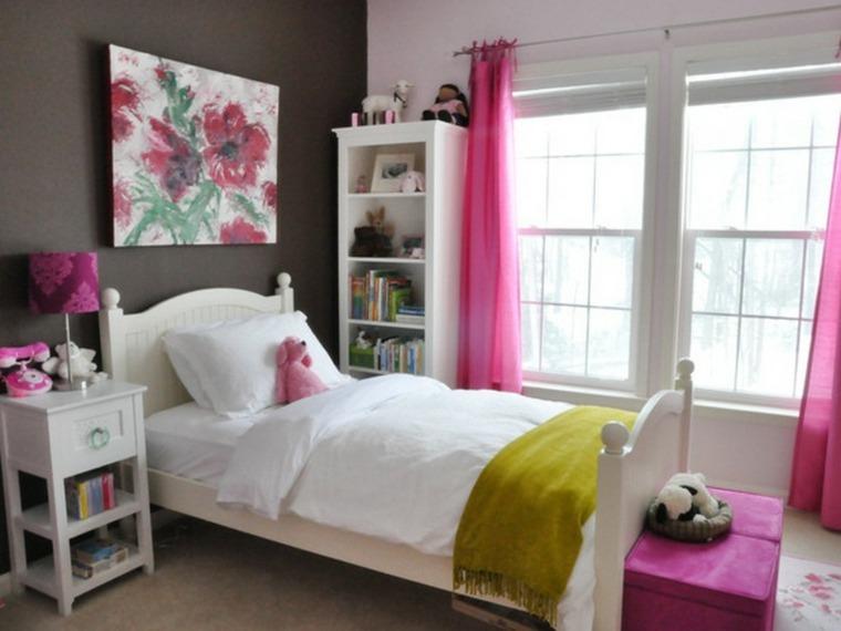 habitaciones de chicas color rosa color oscuro