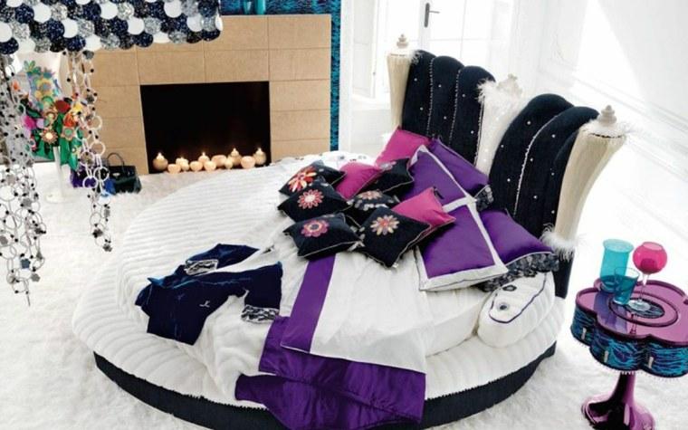 habitaciones modernas juveniles cama redonda
