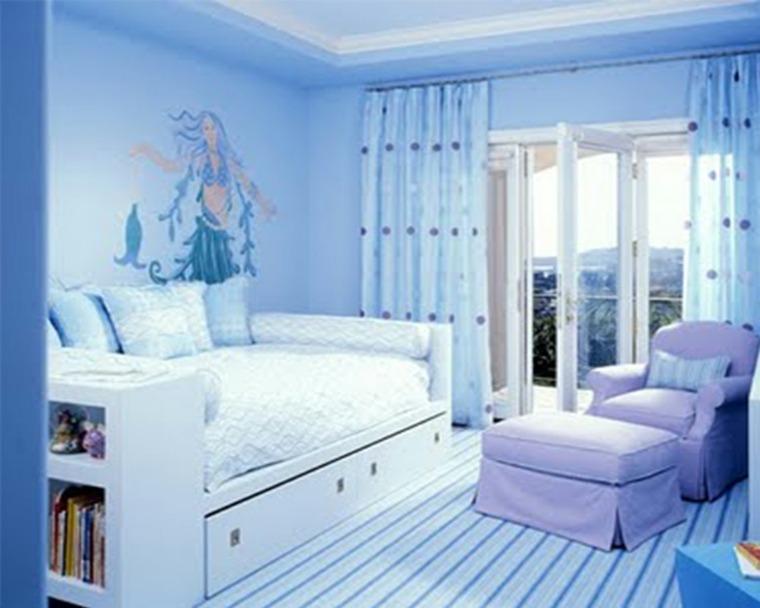 habitaciones para chicas azul