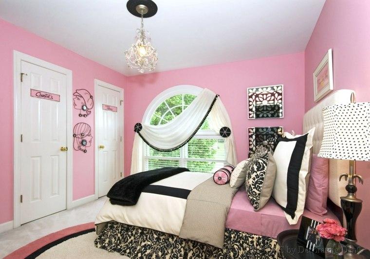 habitaciones para chicas cortinas