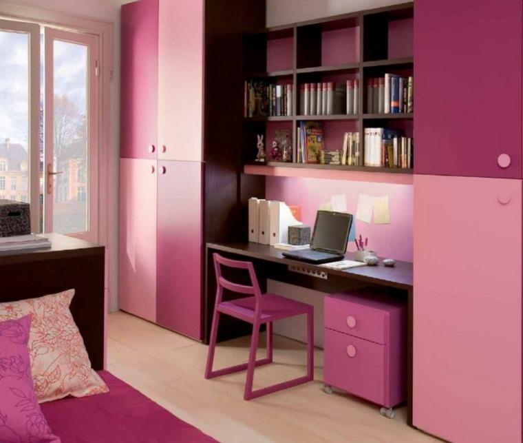 habitaciones para chicas escritorio