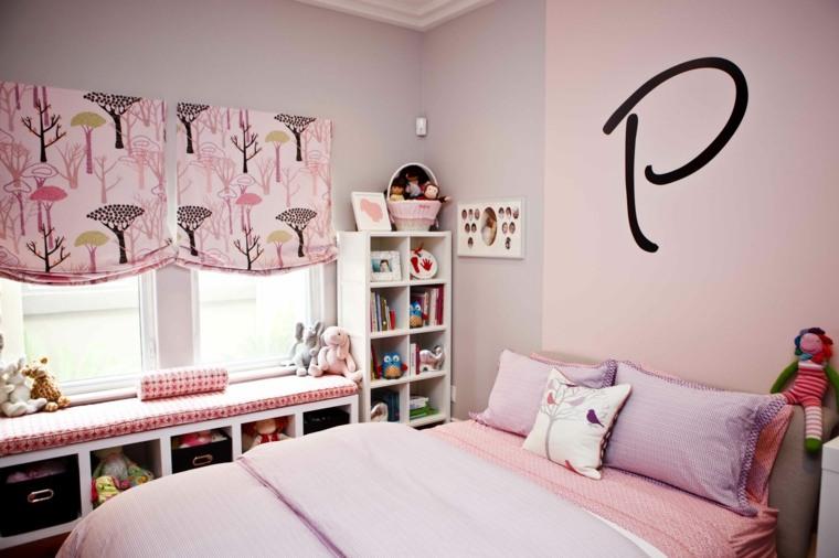 habitaciones para chicas persianas