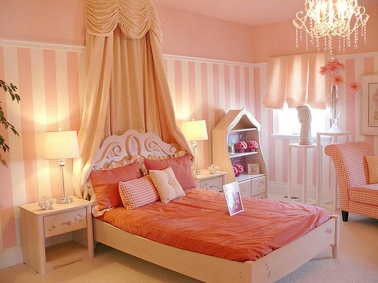 habitaciones para chicas rayas pared