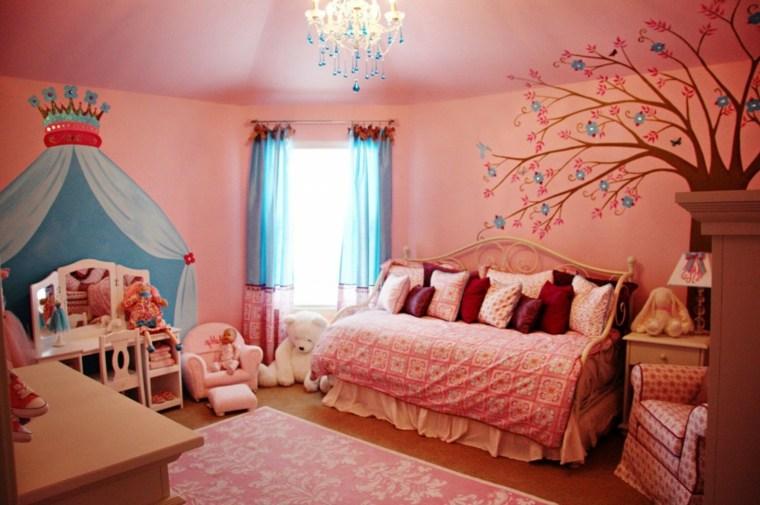 habitaciones para chicas tonos naranjas