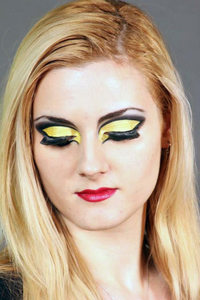 halloween diseño ojos estilos amarillo