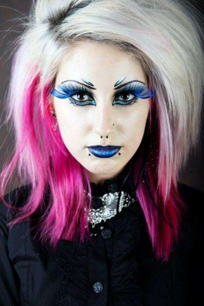 halloween diseño rosa cabello efectos