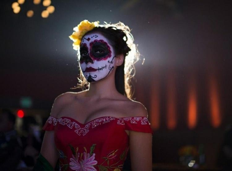 halloween maquillaje etilos elementos flores