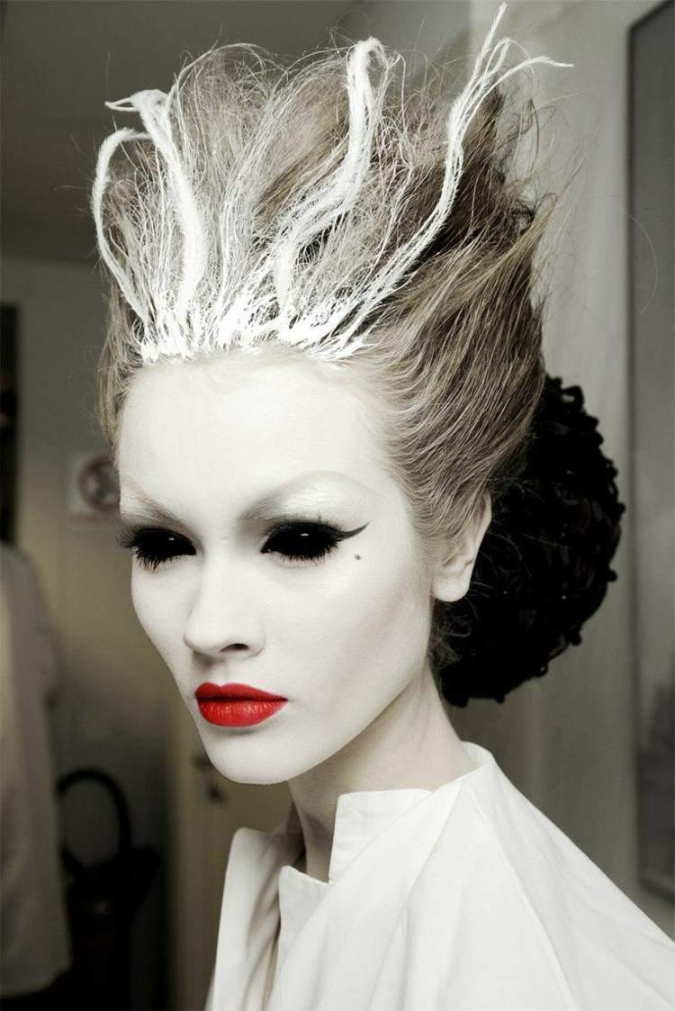 halloween maquillaje fantasmas caras cabello