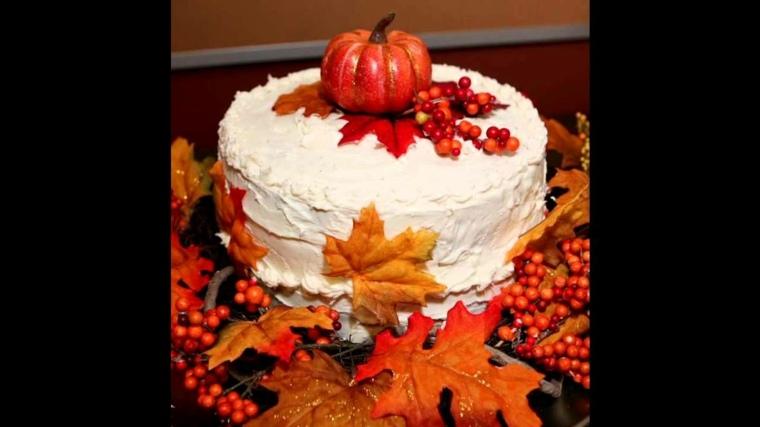 hojas de árbol tarta