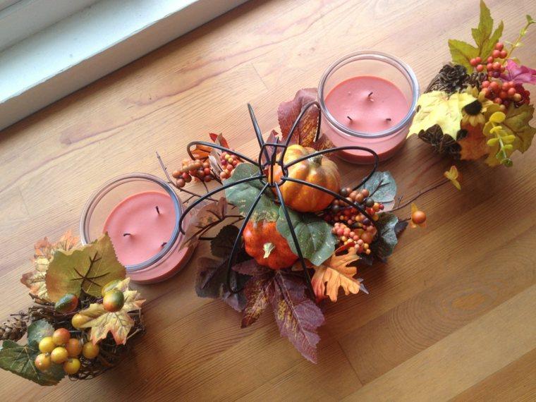 hojas de otoño decoración