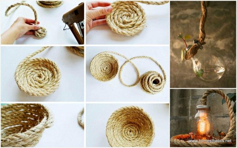 Manualidades con cuerda originales ideas de decoraci n for Ideas decorativas hogar