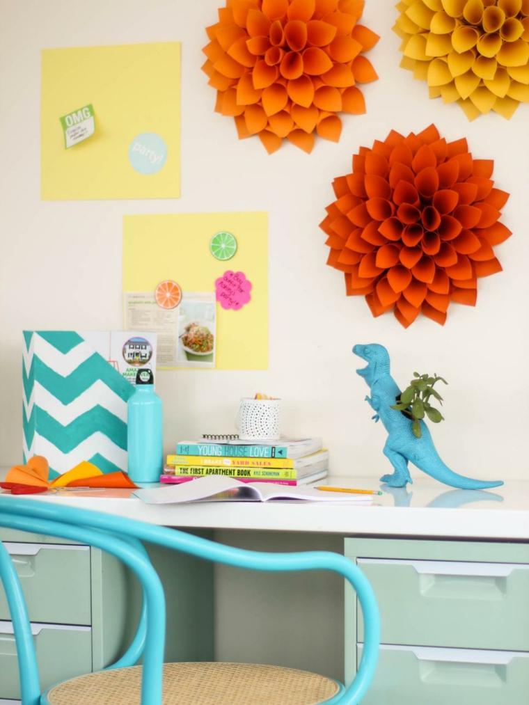 ideas diy especiales flores papel coloridas