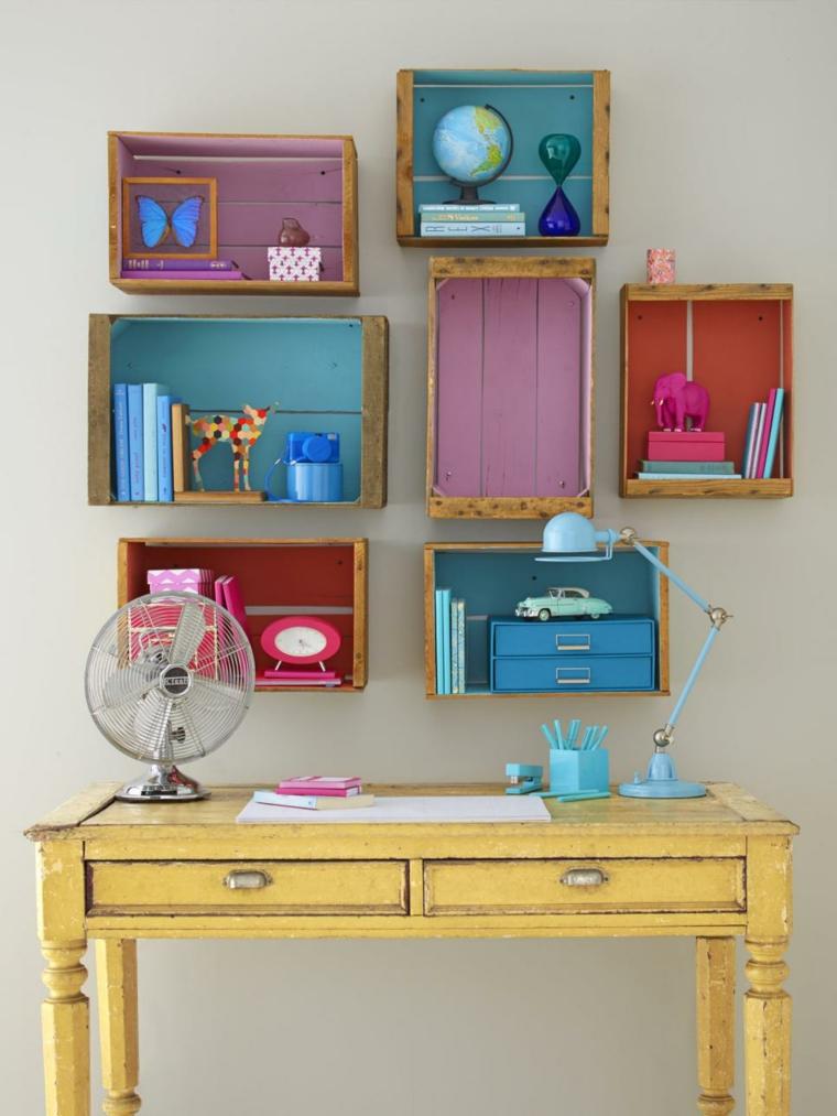 ideas diy estantes coloridos especiales cajones