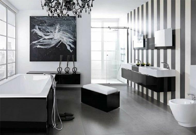 Ba os originales en negro y en gris - Ideas originales para banos ...