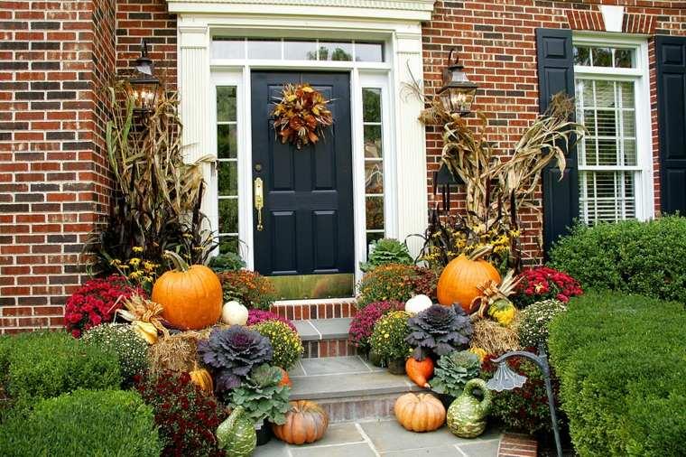 ideas para decorar casa otono entrada casa escaleras original