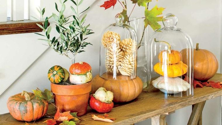 ideas decorar casa otono mesita decorada original