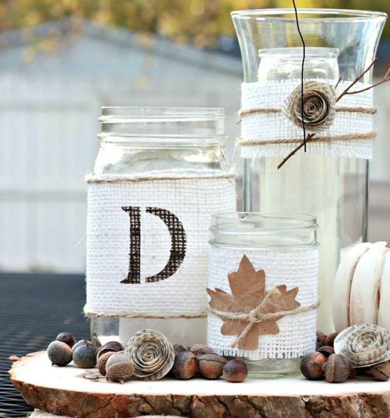 ideas decorar casa otono tarros original