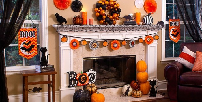 ideas para halloween gatos negros chimeneas