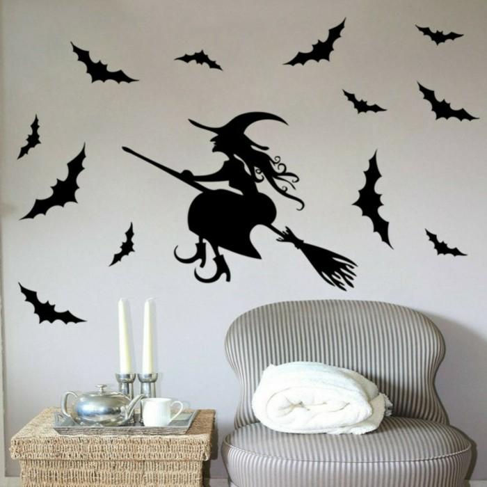 ideas para halloween pegatinas paredes velas