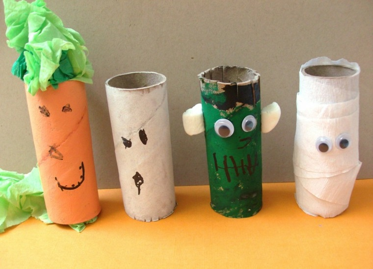 ideas para halloween tubos papel