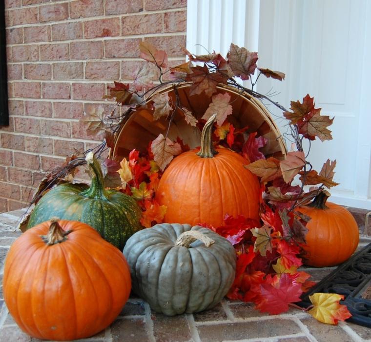 imágenes de hojas de otoño calabazas
