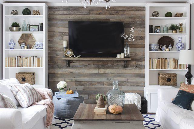 imagen pared forrada palet madera