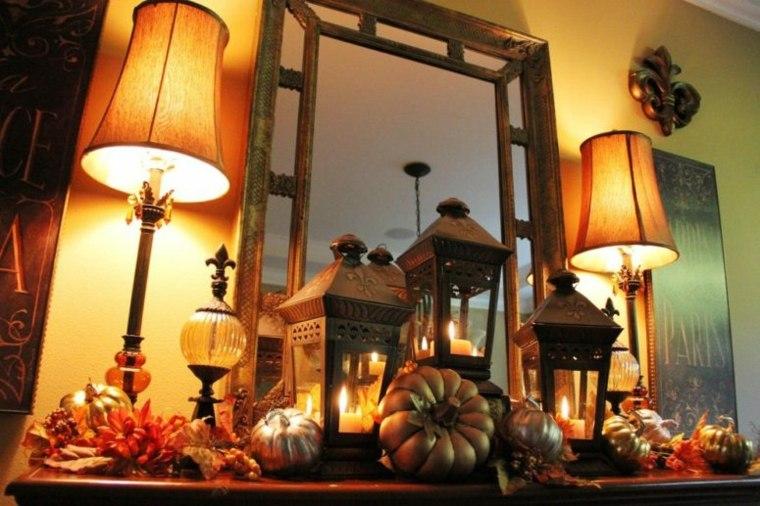 interior decoraciones de otoño